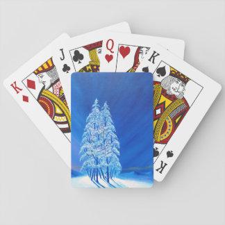 Blaues Weihnachten # 2 Pokerkarte