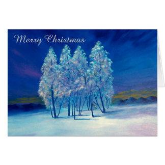 Blaues Weihnachten #4 Karte