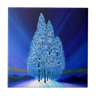 Blaues Weihnachten #7 Fliese