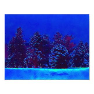 Blaues Weihnachten Individuelle Einladungskarte