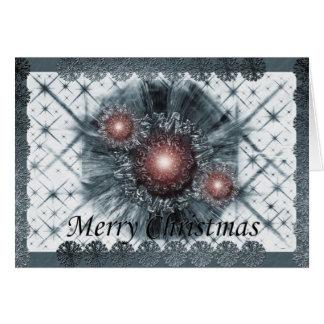 Blaues Weihnachten Karte