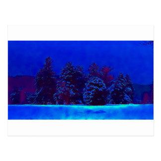 Blaues Weihnachten Postkarten