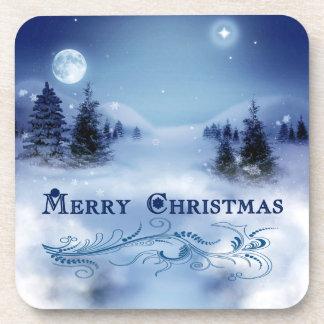 Blaues Weihnachten Untersetzer