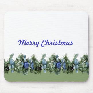 Blaues Weihnachten verziert Luxus Mousepad