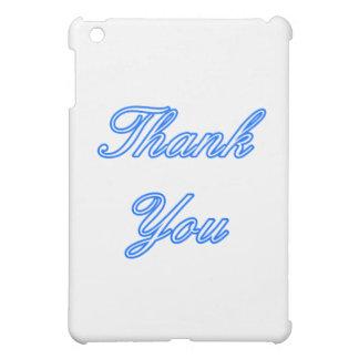 Blaues Weiß dankt Ihnen, das MUSEUM Zazzle Geschen iPad Mini Hülle