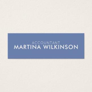 Blaues Weiß der Duoton-Namensschild-Art Mini Visitenkarte