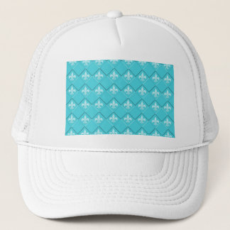 blaues Weiß des coolen Lilienmuster-Zickzacks Truckerkappe