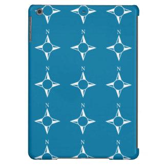 Blaues Weiß des rechtweisend Nord iPad Air Hülle