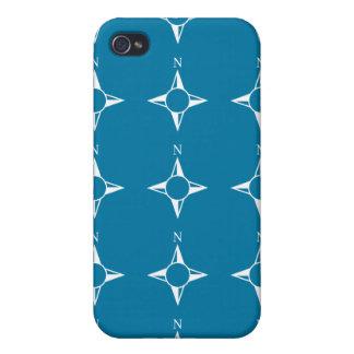 Blaues Weiß des rechtweisend Nord iPhone 4/4S Hüllen