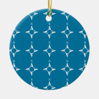 Blaues Weiß des rechtweisend Nord Ornamente