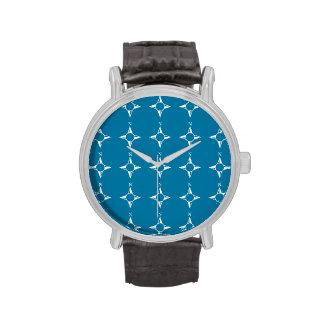 Blaues Weiß des rechtweisend Nord Armbanduhr