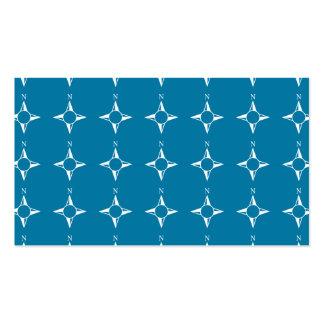 Blaues Weiß des rechtweisend Nord Visitenkartenvorlagen