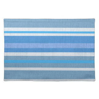 Blaues Weiß-gestreiftes hübsches cooles Tischset