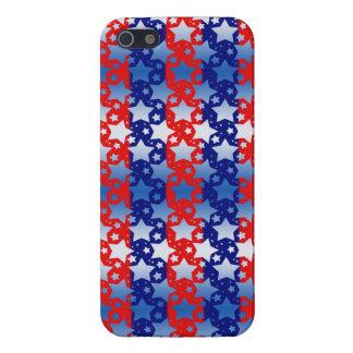 Blaues Weiß spielt rote blaue Streifen die Hülle Fürs iPhone 5