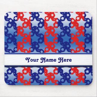 Blaues Weiß spielt rote blaue Streifen die Mauspad