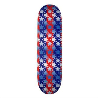 Blaues Weiß spielt rote blaue Streifen die Personalisierte Skateboarddecks