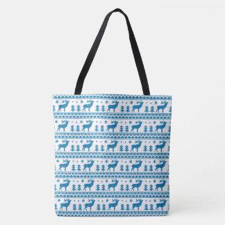 Blaues weißes angemessenes tasche