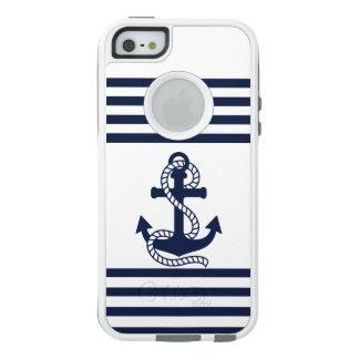 Blaues weißes Anker OtterBox nautischiPhone OtterBox iPhone 5/5s/SE Hülle