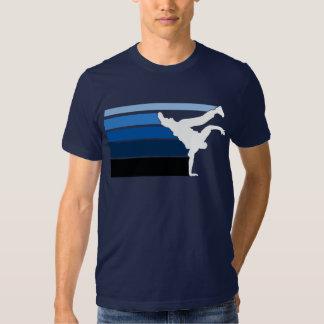 Blaues Weißes BBOY Steigung Shirt