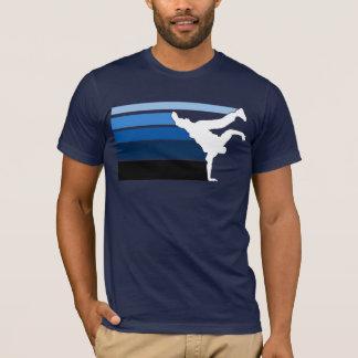 Blaues Weißes BBOY Steigung T-Shirt