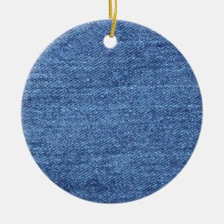 Blaues weißes Denim-Beschaffenheits-Blick-Bild Keramik Ornament