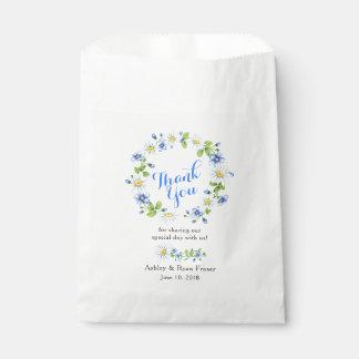 Blaues weißes Land-Gänseblümchen-Blumenhochzeit Geschenktütchen