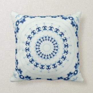 Blue White Throw Pillow