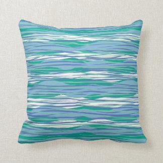 Blaues Wellen-Muster Kissen