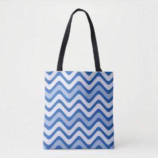 Blaues Wellenmuster Tasche
