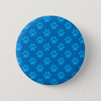 Blaues Welpentatzenmuster Runder Button 5,1 Cm