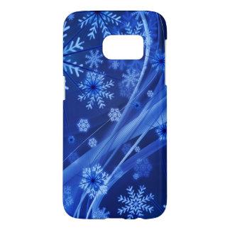 Blaues Winter-Schneeflocke-Weihnachten