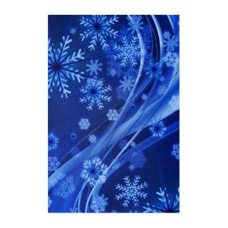 Blaues Winter-Schneeflocke-Weihnachten Acryldruck