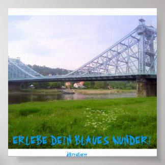 Blaues Wunder Dresden Poster