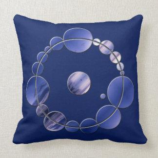Blaues Wurfs-Kissen mit Ernte-Kreis Kissen