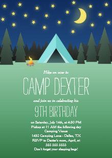 Einladungskarten geburtstag camping