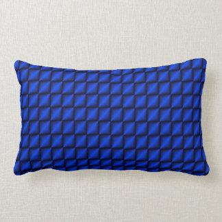 Blaues Zickzack-Kissen Lendenkissen