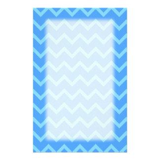 Blaues Zickzack-Muster Briefpapier