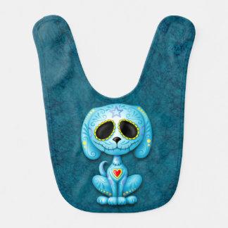Blaues Zombie-ZuckerHündchen Babylätzchen