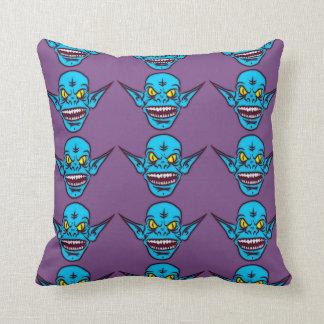 blaues Zombieschleppangel-Dämonkissen Kissen