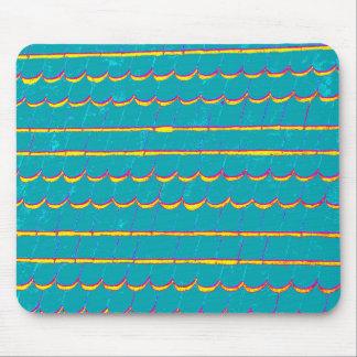 blaugrüne Abstellgleisschindeln Mousepad