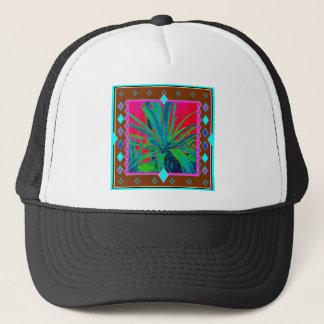 Blaugrüne Agaven-Kaktus-Kunst-Geschenke durch Truckerkappe