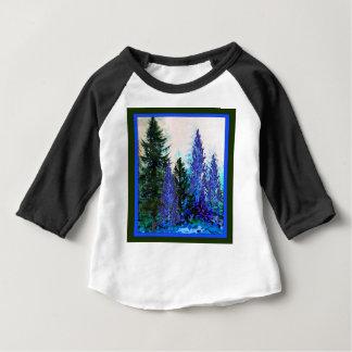 BLAUGRÜNE GEBIRGSwaldlandschaft Baby T-shirt