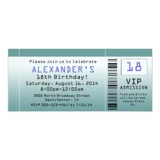 Blaugrüne Karten-Einladungen 10,2 X 23,5 Cm Einladungskarte