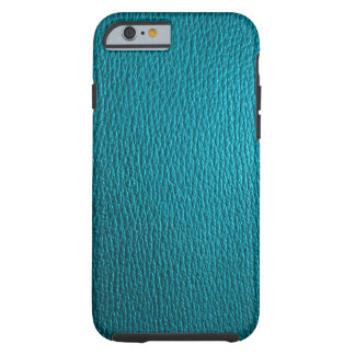 Blaugrüne Ton-natürlicher lederner Blick Tough iPhone 6 Hülle