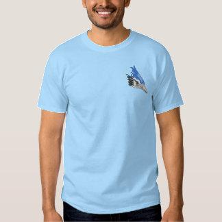 Blauhäher Besticktes T-Shirt