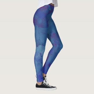 bläulicher Watercolor, stilvolles abstraktes Blau Leggings
