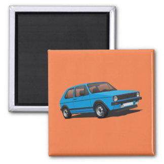 Blaumagnet VDUB Golfs GTI MK1 Quadratischer Magnet