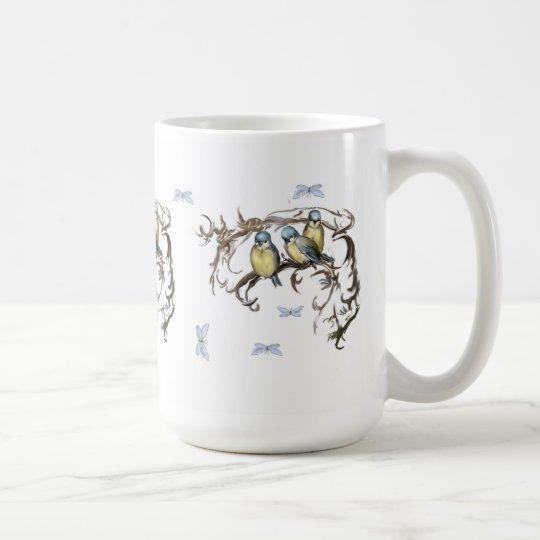 Blaumeisen Vintage-Tasse Kaffeetasse