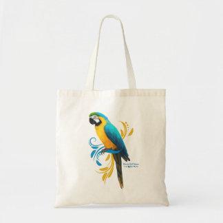 Blauund Goldmacaw-Taschen-Tasche Tragetasche