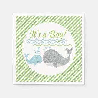 Blauwal-Babyparty-Papierservietten Papierservietten
